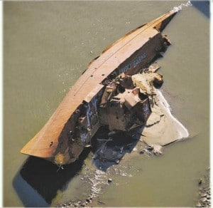 Drying of US rivers uncovers history