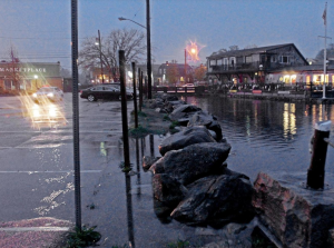 Tidal flooding from sea level rise from global warming