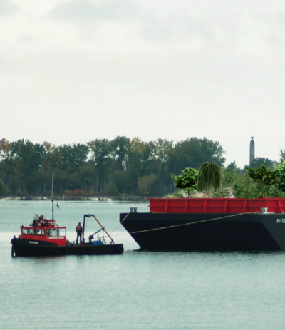 A floating garden - one element of a climate-proof neighborhood.