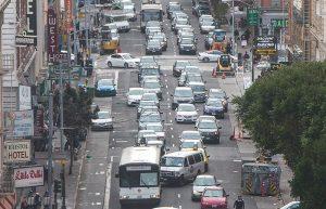Commuting traffic SFO