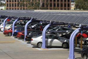 Solar carport reduces transmission losses-