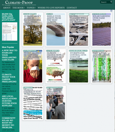 New design of Climate-Proof blog